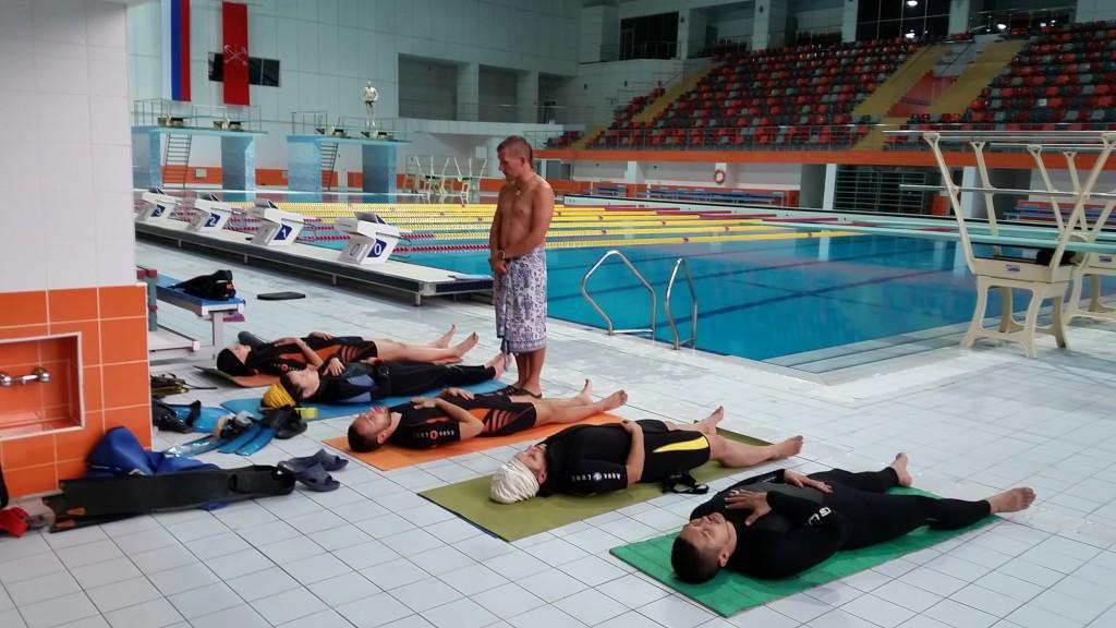 Занятия по задержке дыхания, тренировки по фридайвингу