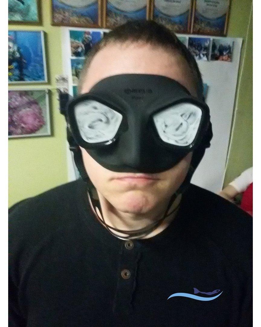 потеет маска под водой